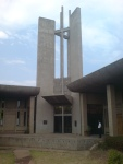 Holy Cross Cathedral main entrance