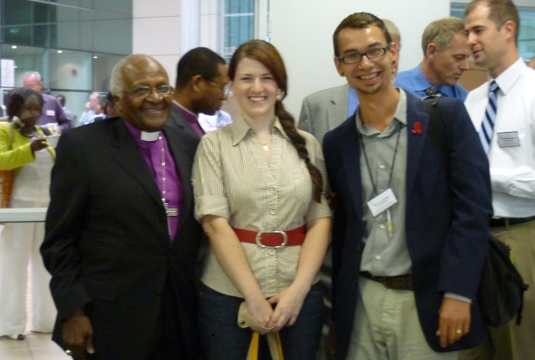 Archbishop Emeritus Desmond Tutu, me and Joseph Lockridge