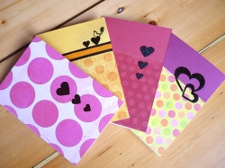 Handmade Valentine's Day cards from my new 2011 Valentine's Day Collection.